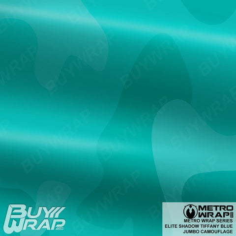 Metro Wrap Series Jumbo Elite Shadow Tiffany Blue Camouflage Vinyl Wrap Film