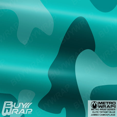 Metro Wrap Series Jumbo Elite Tiffany Blue Camouflage Vinyl Wrap Film