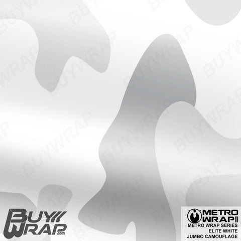 Metro Wrap Series Jumbo Elite White Camouflage Vinyl Wrap Film