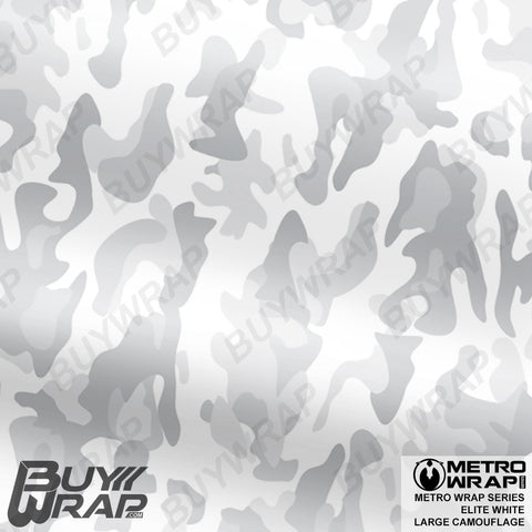Metro Wrap Series Large Elite White Camouflage Vinyl Wrap Film