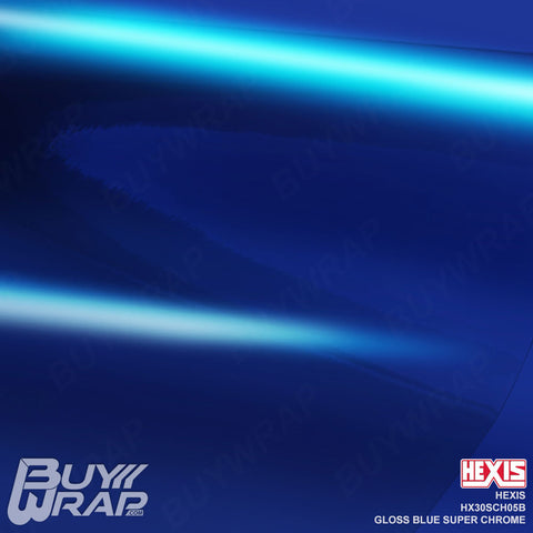 Hexis HX30SCH05B Gloss Blue Super Chrome Wrapping Vinyl Film