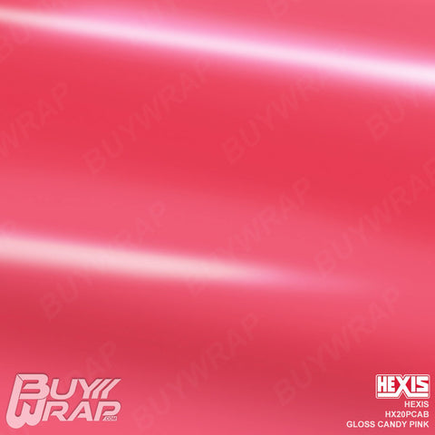 Hexis HX20PCAB Gloss Candy Pink Vinyl Vehicle Wrap
