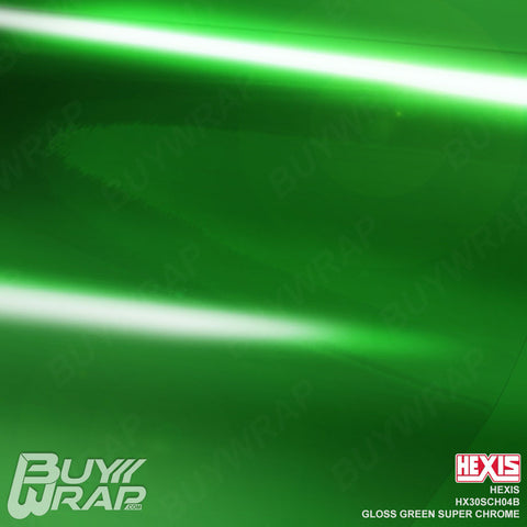 Hexis HX30SCH04B Gloss Green Super Chrome vinyl vehicle wrap