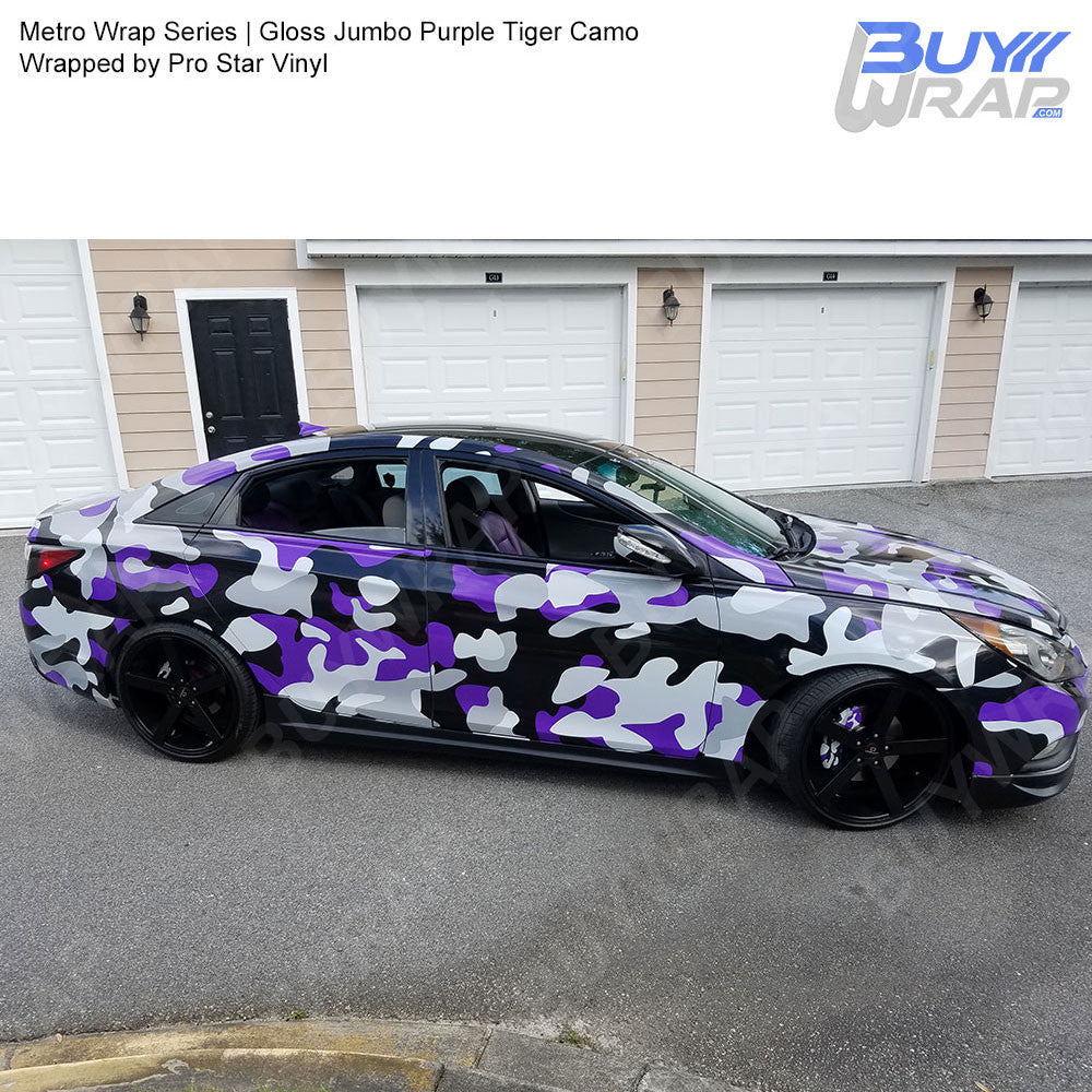 ef25da7489 ... Metro Wrap Series Jumbo Purple Tiger Camouflage Vinyl Wrap Film ...