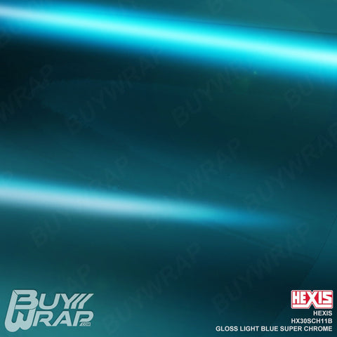 Hexis HX30SCH11B Gloss Light Blue Super Chrome vehicle vinyl wrap film