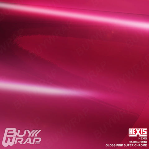 Hexis HX30SCH10B Gloss Pink Super Chrome Vehicle Vinyl Wrap