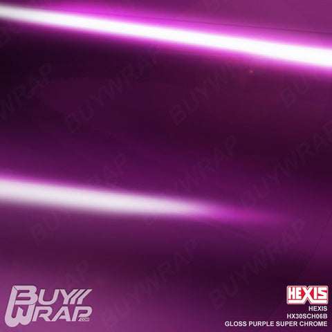 Hexis Gloss Purple Super Chrome Wrap | HX30SCH06B