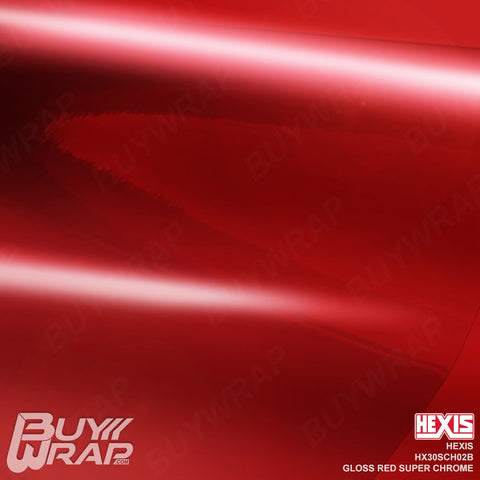 Hexis HX30SCH02B Gloss Red Super Chrome Vinyl Wrap Film