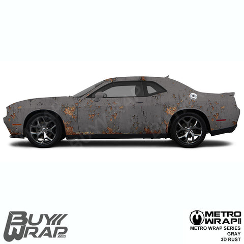 Metro Wrap Series Gray 3D Rust Car Wrap Film