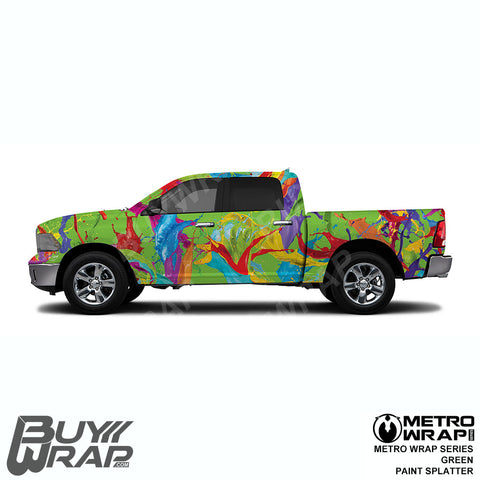 Metro Wrap Series Green Paint Splatter Car Vinyl Film
