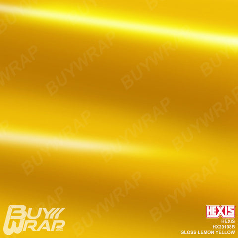 Hexis Gloss Lemon Yellow Wrap | HX20108B