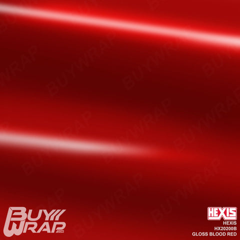 Hexis Gloss Blood Red Wrap | HX20200B