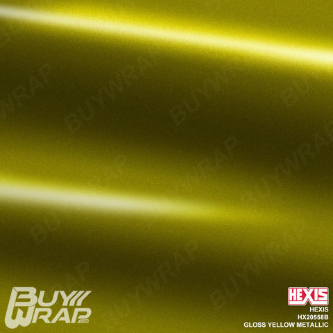 Hexis Gloss Yellow Metallic Wrap | HX20558B