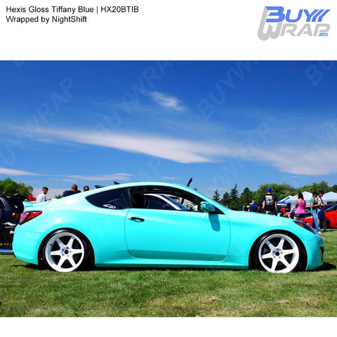 Hexis Gloss Tiffany Blue Vinyl Wrap | HX20BTIB