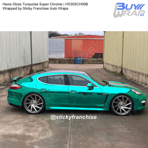 Hexis Gloss Turquoise Super Chrome Wrap | HX30SCH09B