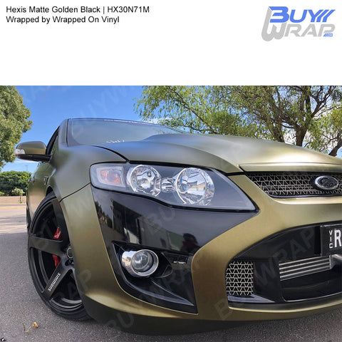 Hexis Matte Golden Black Iridescent Wrap | HX30N71M