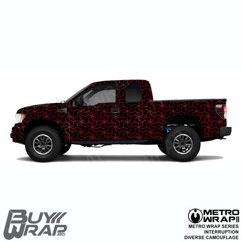 Metro Wrap Series Interruption Diverse Camouflage Car Wrap Film