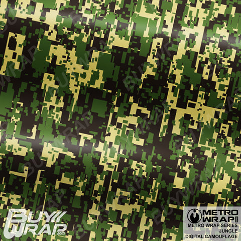 Metro Wrap Series Digital Jungle Camouflage Vinyl Wrap Film