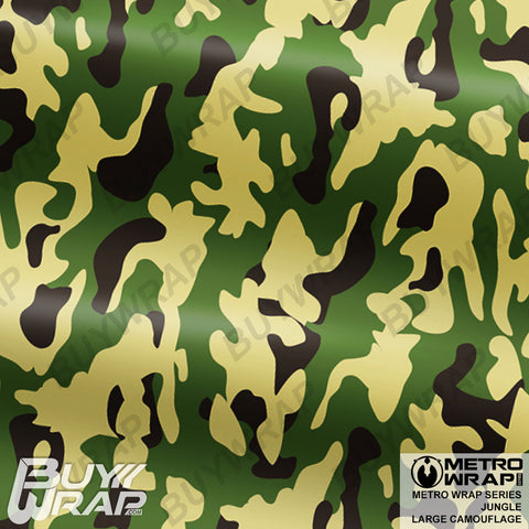 Metro Wrap Series Large Jungle Camouflage Vinyl Wrap Film