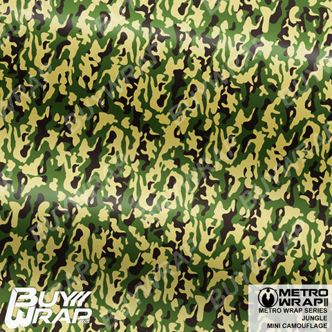Metro Wrap Series Mini Jungle Camouflage Vinyl Vehicle Wrap Film