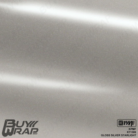 KPMF K71306 Gloss Silver Starlight Overlaminate vinyl vehicle wrap