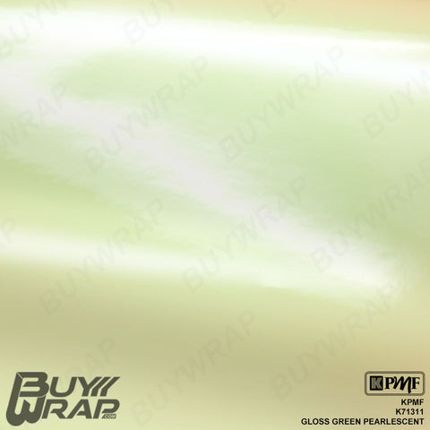 gloss green pearlescent overlaminate