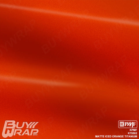KPMF Matte Iced Orange Titanium Wrap | K75502
