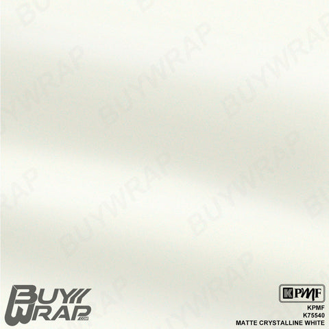 KPMF K75540 Matte Crystalline White car wrap vinyl film