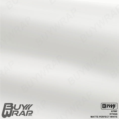 KPMF K75546 Matte Perfect White vehicle vinyl wrap film