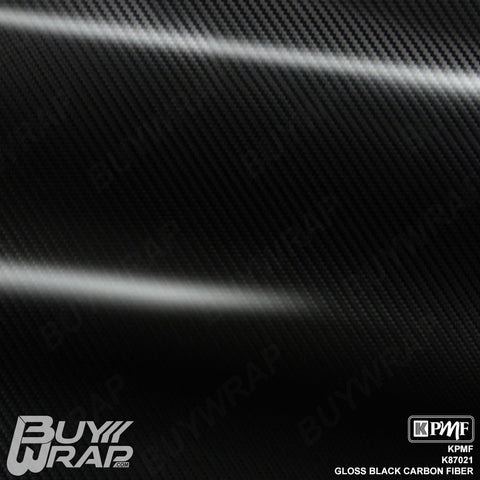 KPMF K87021 Gloss Black Carbon Fiber Car vinyl film wrap