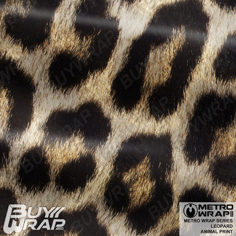 Metro Wrap Series Leopard Animal Print Car Wrap Film
