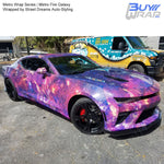 Metro Wrap Series Fire Galaxy Vehicle Vinyl Wrap Wrapped by Street Dreams Auto-Styling