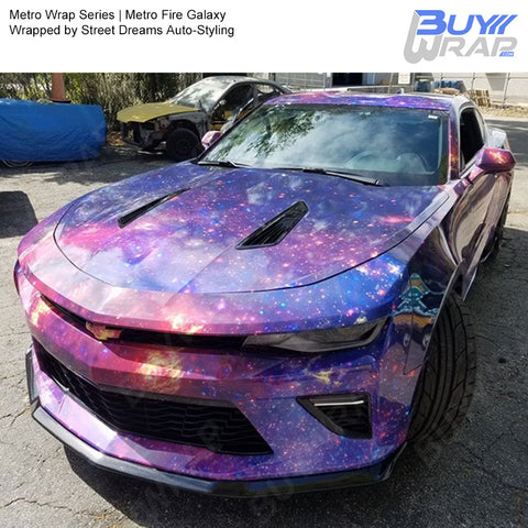 Metro Wrap Series Fire Galaxy Car Wrap Film