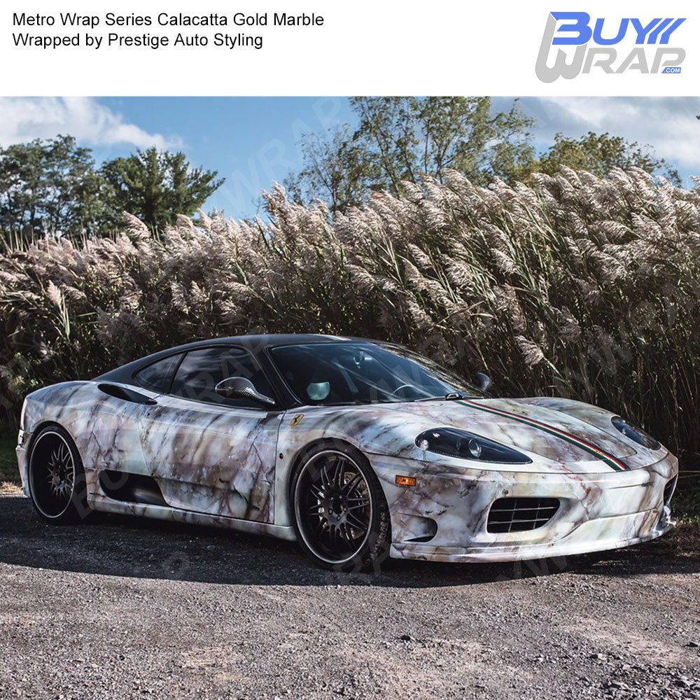 Metro Wrap Series Calacatta Gold Marble Car Wrap Film