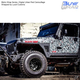 Metro Wrap Series Digital Urban Red Camouflage Vehicle Vinyl Wrap Wrapped by Lucid Customz