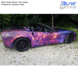 Metro Wrap Series Fire Galaxy Vinyl Film for cars Wrapped by Speedy Wraps