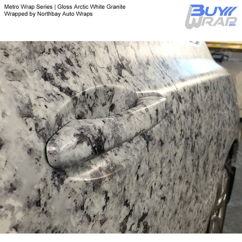 Metro Wrap Series Arctic White Granite Car Wrap Film