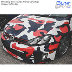 Metro Wrap Series Jumbo America Camo Vinyl Car Wrap Film Wrapped by Mike Lee