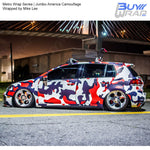 Metro Wrap Series Jumbo America Camouflage Vinyl Wrap Film Wrapped by Mike Lee