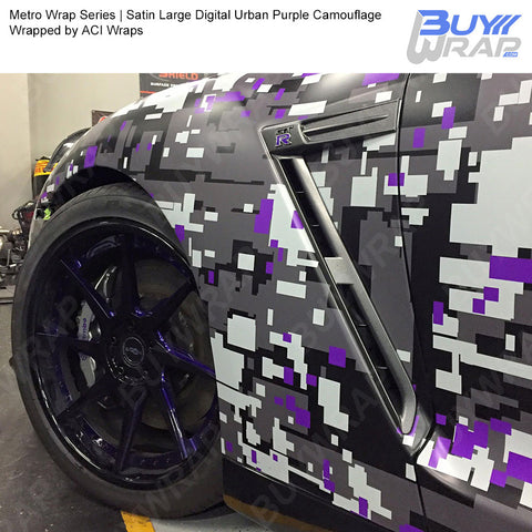 Metro Wrap Series Large Digital Urban Purple Camouflage Vinyl Wrap Film