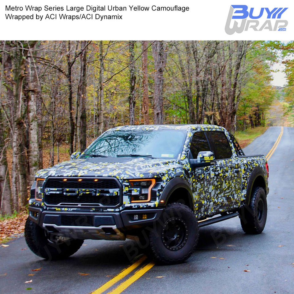 Large Digital Yellow Urban Camo Wrap Metro Series Buywrap Com