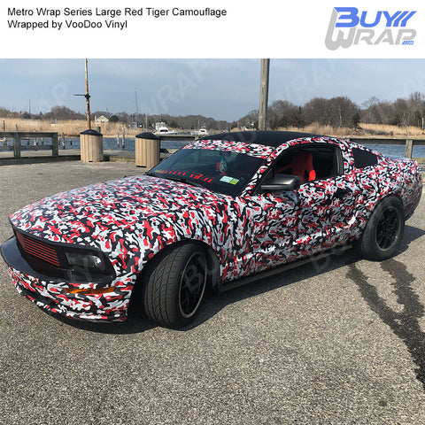 Metro Wrap Series Red Tiger Camouflage Vinyl Wrap Film