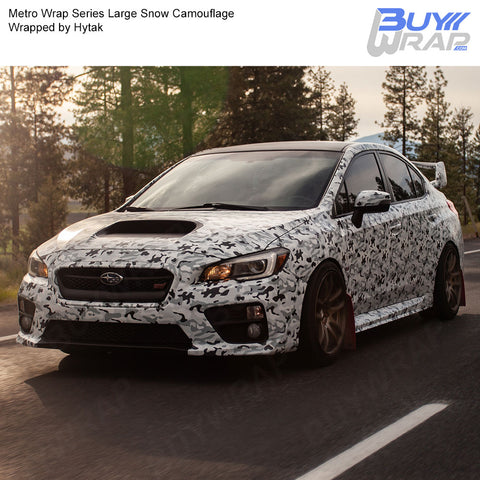 Metro Wrap Series Large Snow Camouflage Vinyl Wrap Film