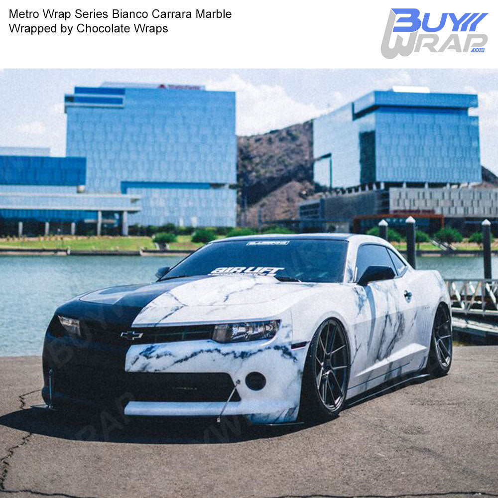Metro Wrap Series Bianco Carrara Marble Car Wrap Film