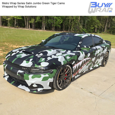 Metro Wrap Series Jumbo Green Tiger Camouflage Vinyl Wrap Film