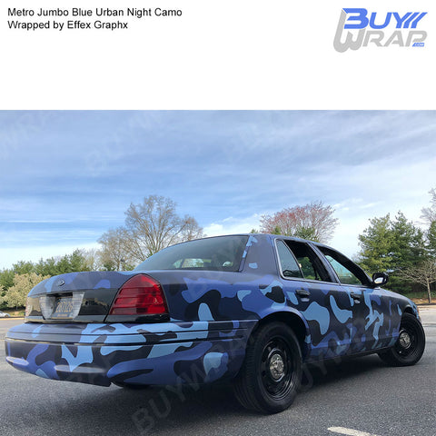 Metro Wrap Series Jumbo Blue Urban Night Camouflage Vinyl Wrap Film