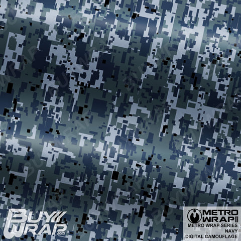 Metro Wrap Series Digital Navy Camouflage Vehicle Vinyl Wrap Film