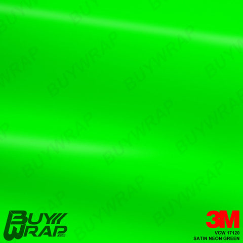 3M Neon Fluorescent Wrap Film | Satin Neon Green | VCW17120