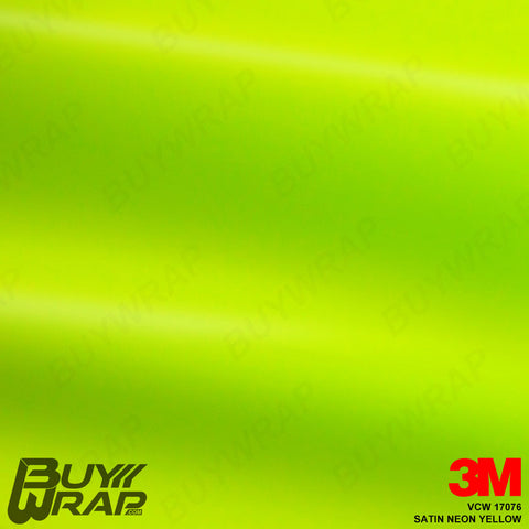3M VCW17076 Satin Neon Yellow Wrap