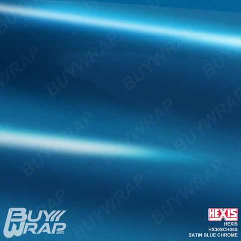 Hexis HX30SCH05S Satin Blue Super Chrome Vehicle Vinyl Wrap Film